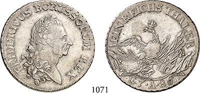 Königreich Preussen Friedrich Ii 1786 Silber 1740-1786 Auf Seinen Tod