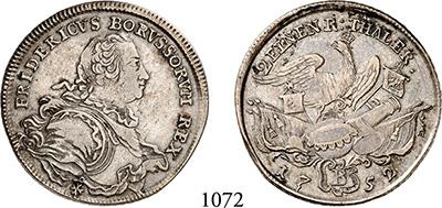 Königreich Preussen Friedrich Ii Silber 1740-1786 Auf Seinen Tod 1786
