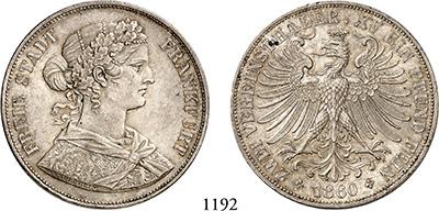 Stadt 1862 Münzen 1 Kreuzer Frankfurt Kleinmünzen & Teilstücke